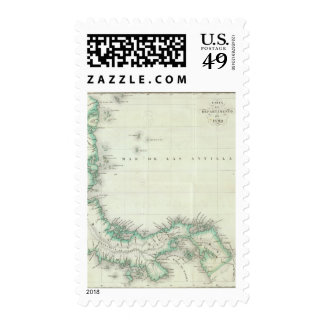 Engraved Map of Panama Postage Stamp