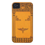 Engraved Old Book Cover Background iPhone 4 Case-Mate Cases
