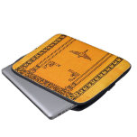 Engraved Old Book Cover Background Laptop Computer Sleeve