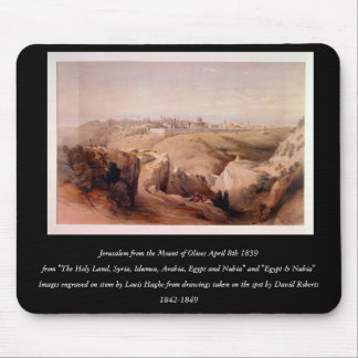 Engraved on stone by Louis Haghe Mouse Pad