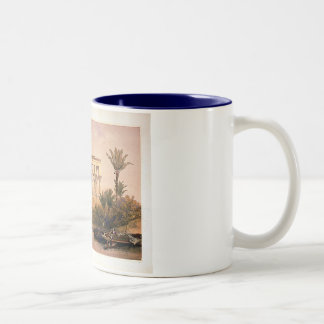 Engraved on stone by Louis Haghe Two-Tone Coffee Mug