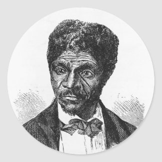 Engraved Portrait of African American Dred Scott Classic Round Sticker