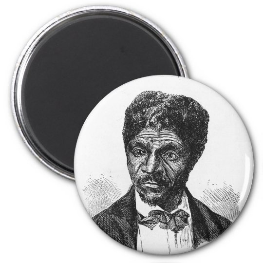 Engraved Portrait of African American Dred Scott Magnet