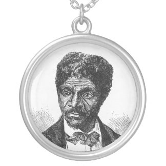 Engraved Portrait of African American Dred Scott Pendants