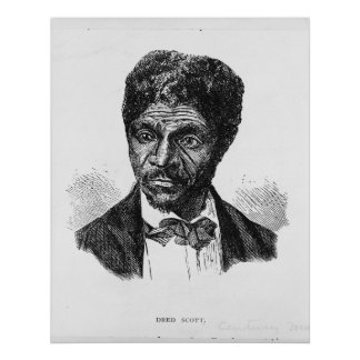 Engraved Portrait of African American Dred Scott Print