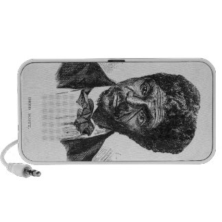 Engraved Portrait of African American Dred Scott iPhone Speakers