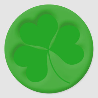 Engraved Shamrock Round Sticker