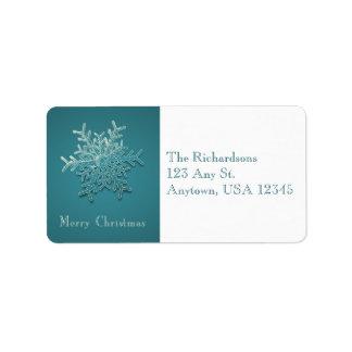 Engraved Snowflake Address Labels