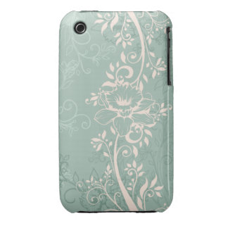 Engraved Swirly Daffodils Case-Mate iPhone 3 Case