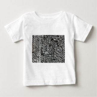 Engraved Text Pattern Baby T-Shirt