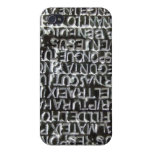Engraved Text Pattern Case For iPhone 4