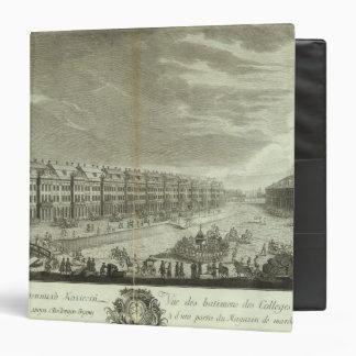Engraved View of Saint Petersburg 2 3 Ring Binder