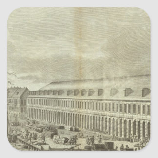 Engraved View of Saint Petersburg 2 Square Sticker