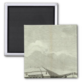 Engraved View of Saint Petersburg 4 2 Inch Square Magnet