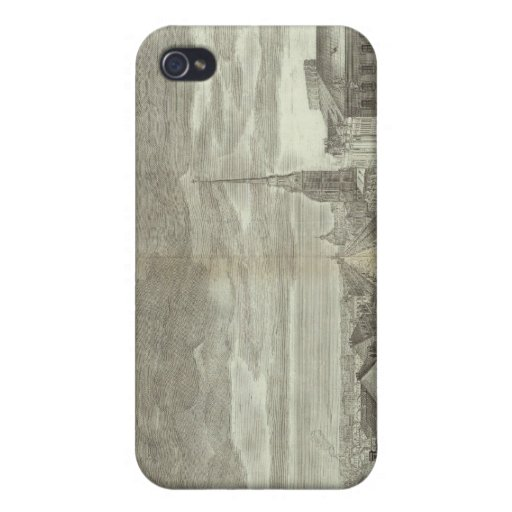 Engraved View of Saint Petersburg 6 iPhone 4 Cover