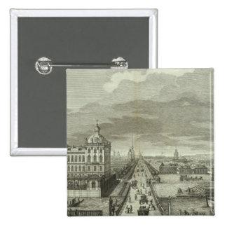 Engraved View of Saint Petersburg Pinback Button