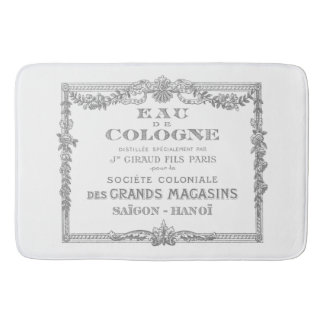 Engraved Vintage French Cologne Ad Art Bathroom Mat