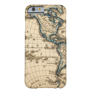Engraved Western Hemisphere Map Barely There iPhone 6 Case