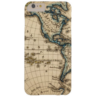 Engraved Western Hemisphere Map Barely There iPhone 6 Plus Case