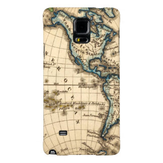 Engraved Western Hemisphere Map Galaxy Note 4 Case