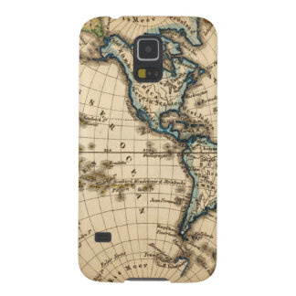 Engraved Western Hemisphere Map Galaxy S5 Case