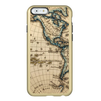 Engraved Western Hemisphere Map Incipio Feather® Shine iPhone 6 Case