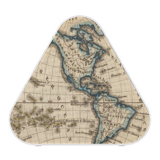 Engraved Western Hemisphere Map Speaker