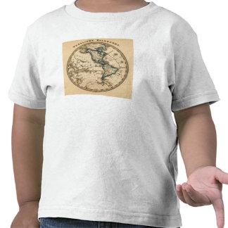 Engraved Western Hemisphere Map Tees