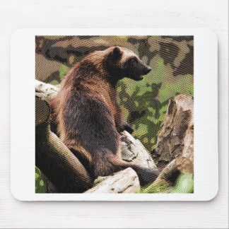 Engraved Wolverine Mouse Pad
