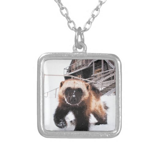 Engraved Wolverine Necklace