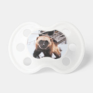 Engraved Wolverine Baby Pacifier