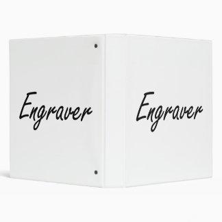 Engraver Artistic Job Design Binder