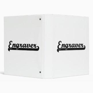 Engraver Classic Job Design 3 Ring Binder