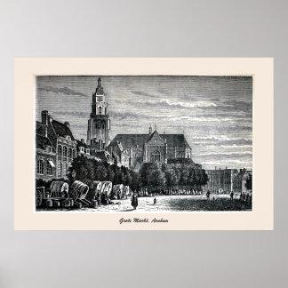 Engraving, Grote Markt (City Square), Arnhem Print