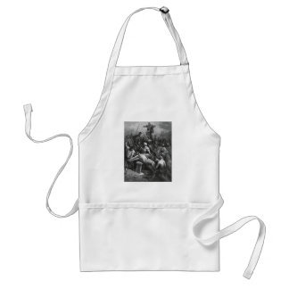 Engraving Jesus Crucifixion 1866 by Gustave Dore Adult Apron
