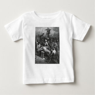 Engraving Jesus Crucifixion 1866 by Gustave Dore Baby T-Shirt