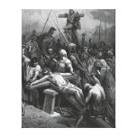 Engraving Jesus Crucifixion 1866 by Gustave Dore Gallery Wrapped Canvas