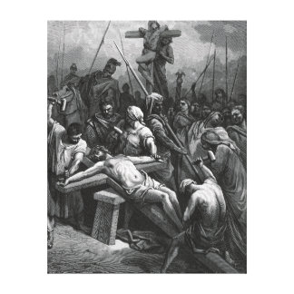 Engraving Jesus Crucifixion 1866 by Gustave Dore Canvas Print