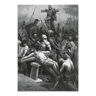Engraving Jesus Crucifixion 1866 by Gustave Dore Card