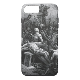 Engraving Jesus Crucifixion 1866 by Gustave Dore iPhone 8 Plus/7 Plus Case