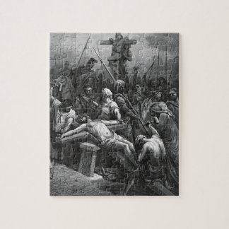 Engraving Jesus Crucifixion 1866 by Gustave Dore Jigsaw Puzzle