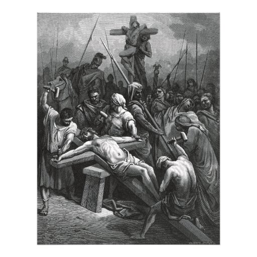 Engraving Jesus Crucifixion 1866 by Gustave Dore Photo Art