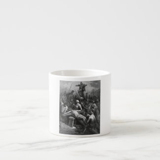 Engraving Jesus Crucifixion 1866 by Gustave Dore Espresso Mugs
