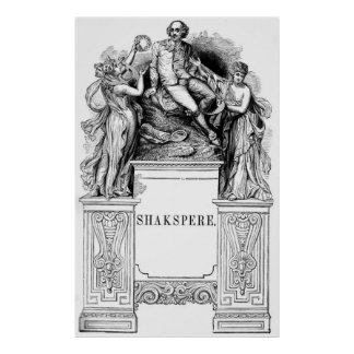 Engraving of William Shakespeare Posters