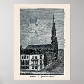 Engraving, St. Eusebius Church, Arnhem Posters