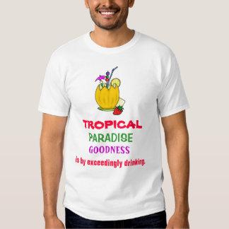 ENGRISH: ¡paraíso tropical = emborrachando! Camisas