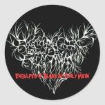 Engulfed (mastered)(1)(limited edition)peg, Eng... Round Sticker