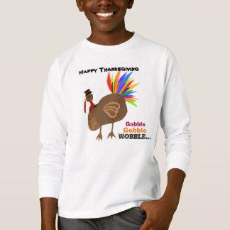 Engulla engullen la acción de gracias Turquía del Camisas