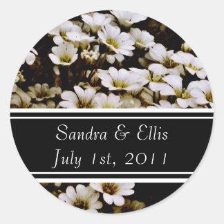 Enhanced Dasies Wedding Label