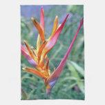 Enhanced Hawaiian Heliconia Flower Hand Towel